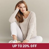 Buy Wide Crochet Sweater - Natural from The White Company