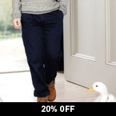 Buy Chino Trousers - Navy from The White Company