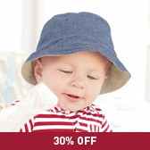 Buy Baby Boy Reversible Hat from The White Company