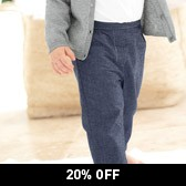 Buy Chambray Trousers from The White Company