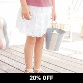 Buy Broderie Skirt from The White Company