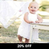 Buy Baby Broderie Dress & Knickers from The White Company
