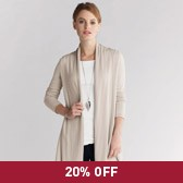 Buy Exposed Seam Swing Cardigan - Natural from The White Company