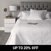 Buy Etienne Bedspread - White from The White Company