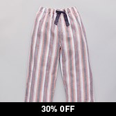 Stripe Flannel Pyjama Bottoms - Multi