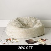 Buy Faux Fur Beanbag from The White Company