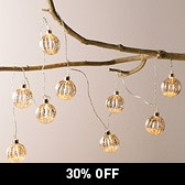 Antiqued Bauble Fairylights