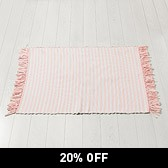Buy Pink Fringed Rug from The White Company