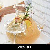 Buy Round Glass Jug from The White Company