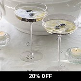 Buy Champagne Saucers - Set of 2 from The White Company