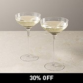 Champagne Saucers - Set of 2