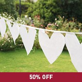 Buy Heart Organza Bunting from The White Company