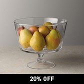 Buy Glass Comport Serving Bowl - Large from The White Company