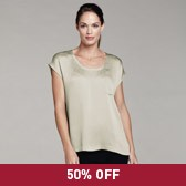 Buy Mini Hammered Silk Top - Mist Green from The White Company