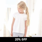 Buy Stretch Detail Jersey Top - White from The White Company