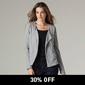 Jersey Waterfall Cardigan - Grey Marl