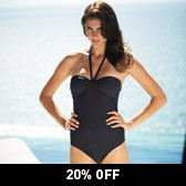 Buy Knot Front Swimsuit - Eclipse Grey from The White Company