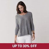 Buy Kangaroo Pocket Sweater - Grey Marl from The White Company