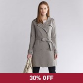 Buy Knitted Trench Coat - Stone from The White Company