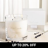 Buy White Lavender Large 3-Wick Candle from The White Company