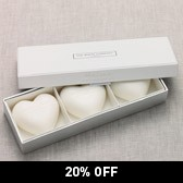 Buy White Lavender Heart Soaps - Set of 3 from The White Company