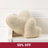 Buy Lavender Filled Hearts - Natural from The White Company