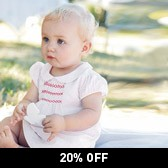 Buy Dotty Smocked Dress & Knickers from The White Company