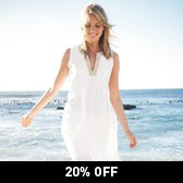 Buy Metal Thread Linen Tunic - White from The White Company