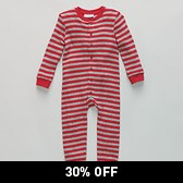 Boys' Stripe Onesie - Red/Grey