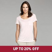 Buy Pocket T-Shirt - Petal Pink from The White Company