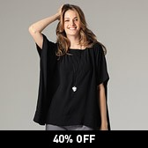 Rectangular Blouse - Black