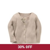 Buy Ribbed Cardigan - Natural from The White Company