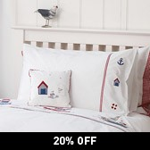 Buy Sailboats Bed Linen from The White Company