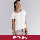 Buy Curved Hem Swing T-Shirt - White from The White Company