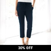 Buy Slim Capri Pants - Navy from The White Company