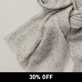Scattered Star Scarf - Taupe