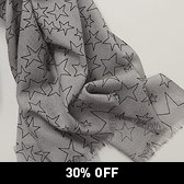 Scattered Star Scarf - Grey