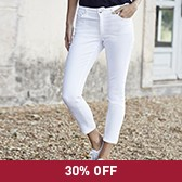 Buy 7/8th Cropped Jeans - White from The White Company