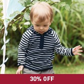 Buy Baby Boy Breton Stripe Knitted Hoodie from The White Company