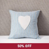 Buy Heart Applique Cushion Cover from The White Company