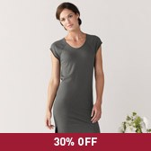 Buy Short Sleeve Knitted Tunic - Charcoal Grey from The White Company