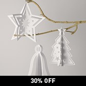 Cut-Out Paper Decorations - Large