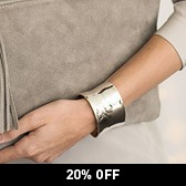 Buy Silver Plated Cuff Bracelet from The White Company