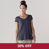 Buy V-Neck Short Sleeve T-Shirt - Midnight from The White Company
