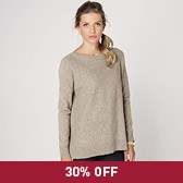 Buy Stepped Hem Sweater - Mink from The White Company