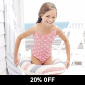 Buy Dotty Frill Swimsuit from The White Company