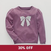 Sparkle Bow Sweater - Mulberry