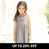 Buy Girls' Twist Pleat Jersey Dress - Grey from The White Company