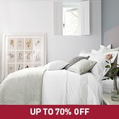 Buy Tuscany Quilt & Cushions - Silver Blue from The White Company