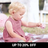 Buy Baby Rose Twist Detail Dress & Knickers from The White Company